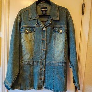 LA Blues Stretch Denim Jacket - 3X